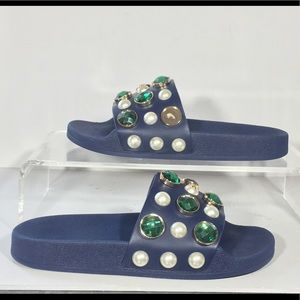 377e3b5d45d2 Tory Burch Shoes - New Tory Burch Vail Slide Sandals Sz 6 Jeweled
